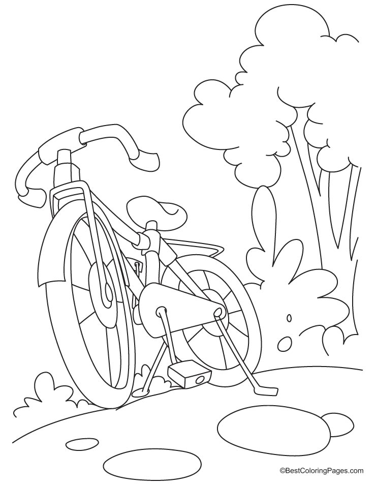 Mountain Bike Coloring Pages - Coloring Home