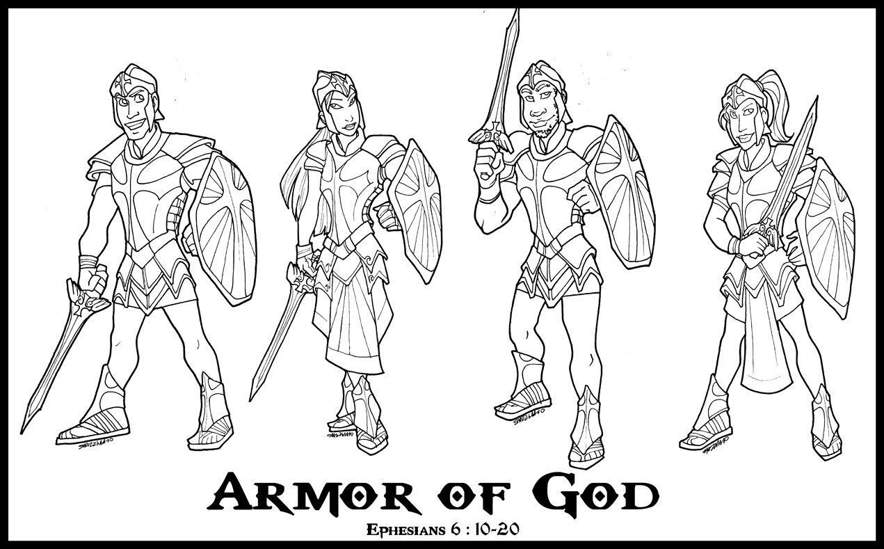 Armor Of God Coloring Page - Coloring Pages For All Ages