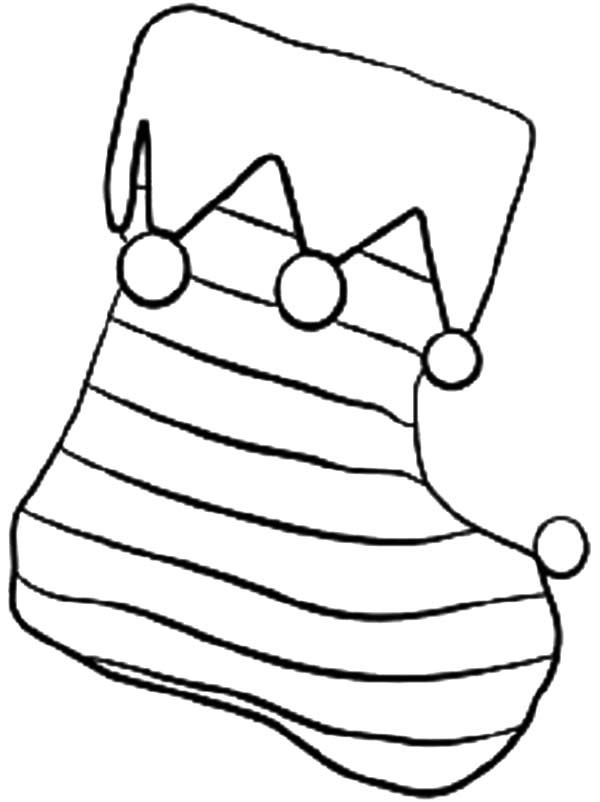 Coloring pages christmas stocking coloring home for Christmas stocking color page
