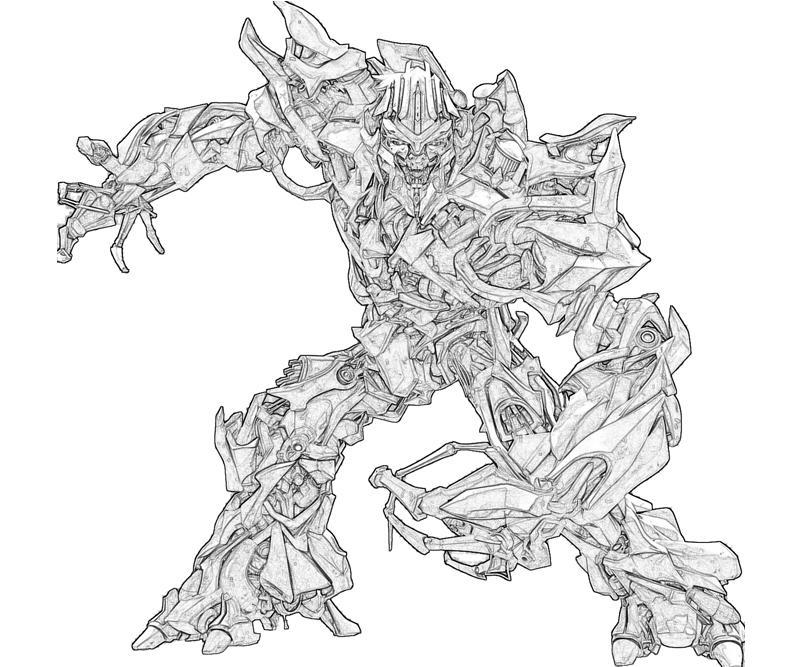 megatron transformers coloring pages   Megatron Coloring Page - Coloring Home
