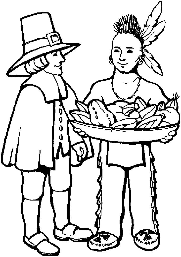 Native American Printable - Coloring Pages for Kids and for Adults