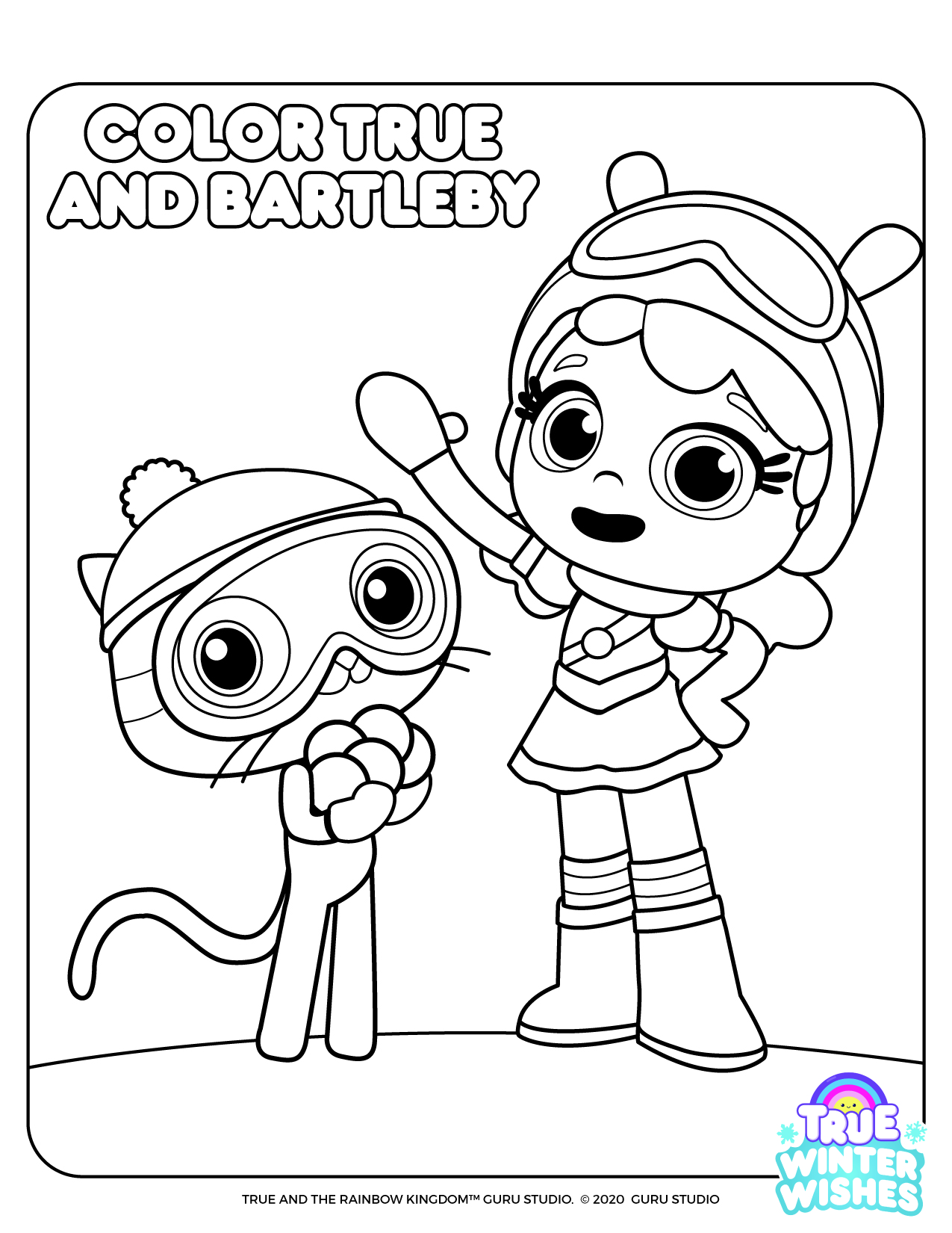 True And The Rainbow Kingdom | Activities - Coloring Home