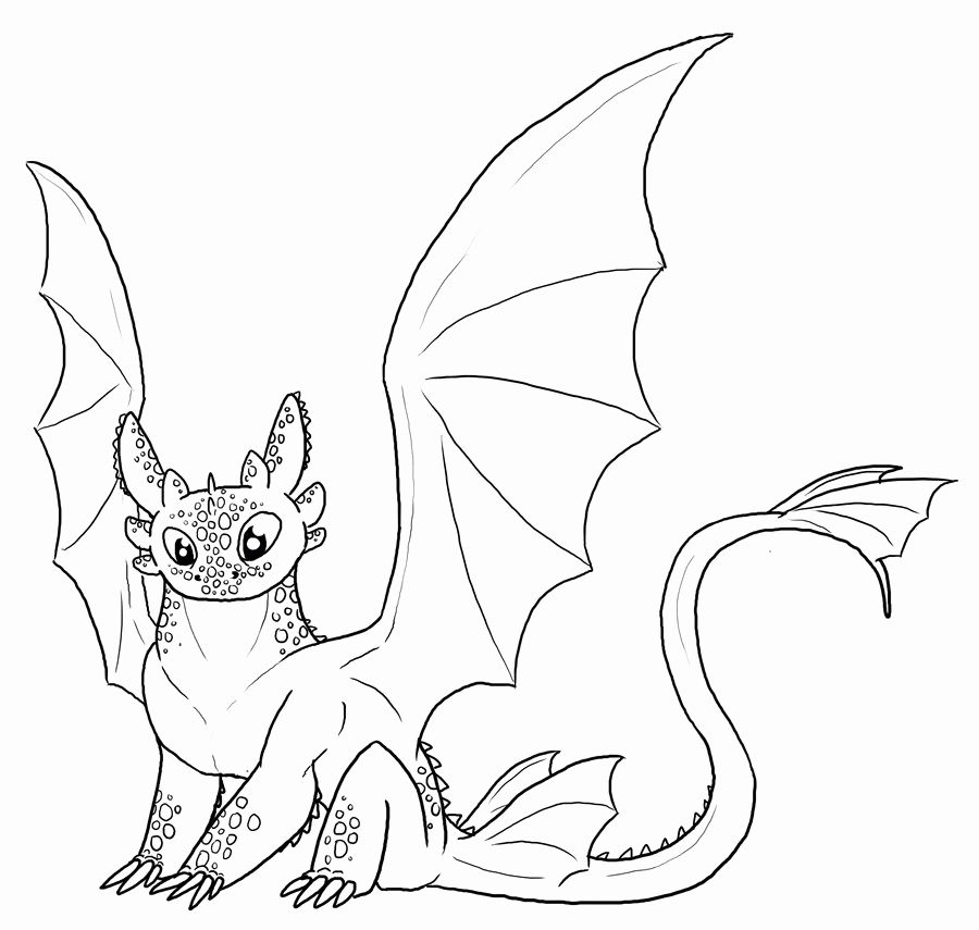 Light Fury Coloring Pages Coloring Home
