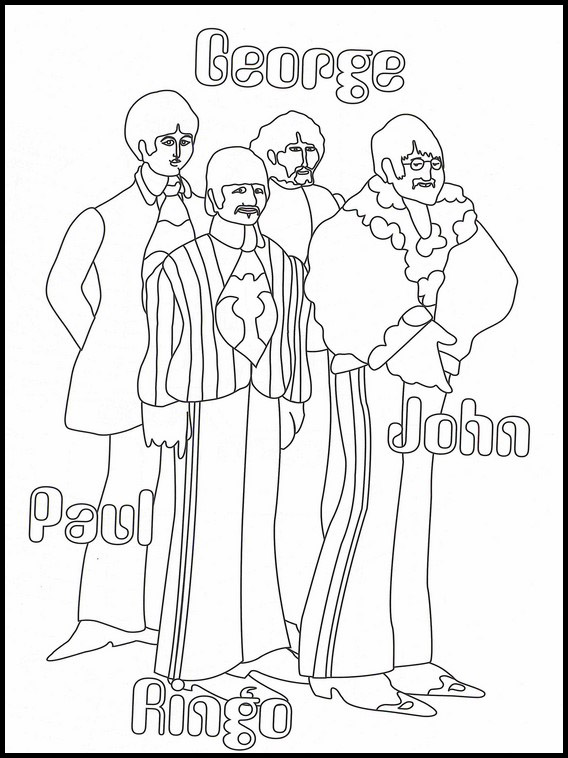 The Beatles Printable Coloring Book 20 Coloring Home