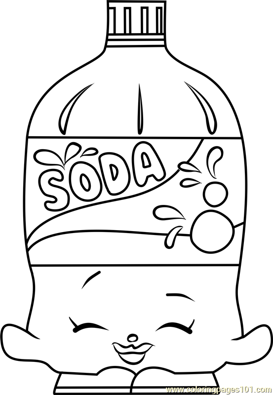 Soda Shopkins Coloring Page Free Shopkins Coloring Pages Coloring Home