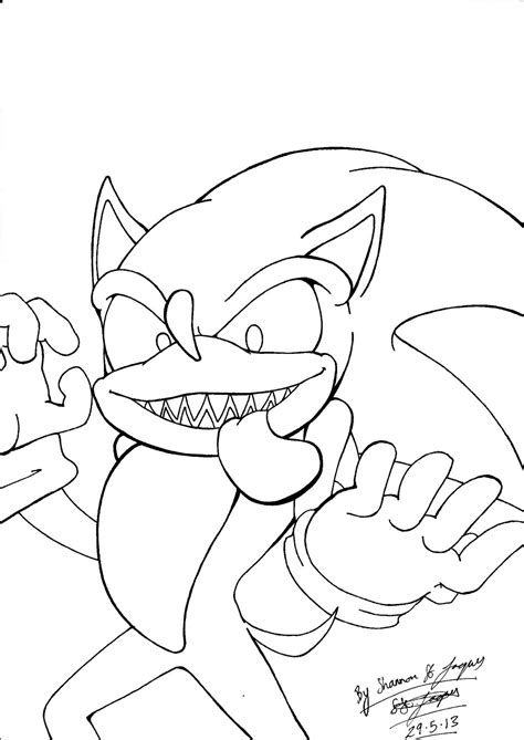 Sonic Exe - Free Colouring Pages - Coloring Home