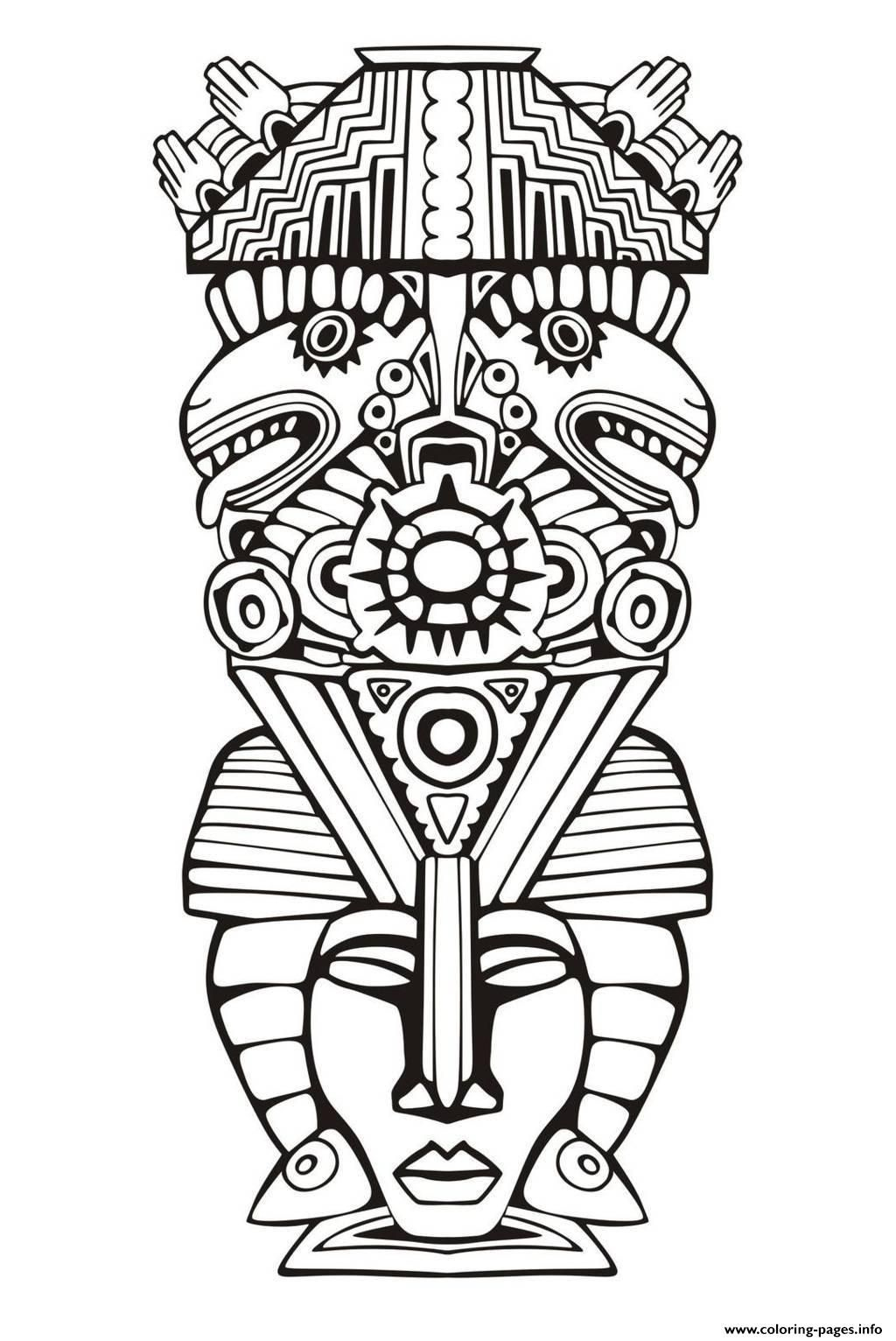 aztecs coloring pages coloring home