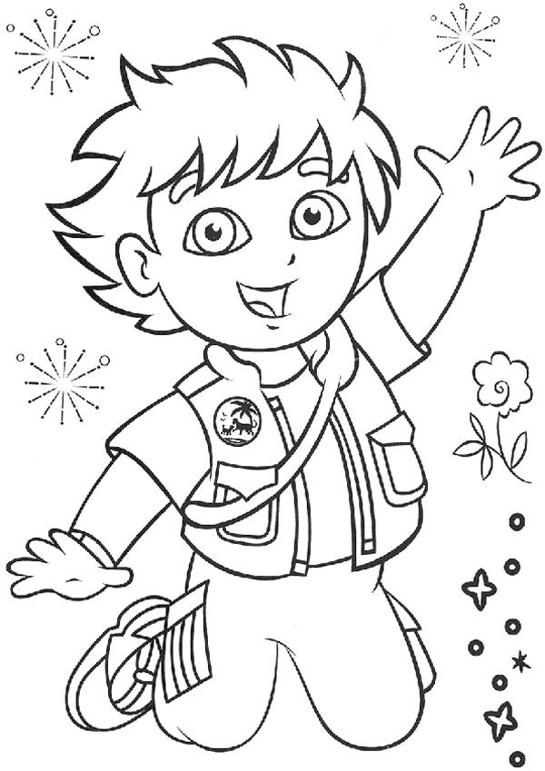 diego go diego go coloring pages az coloring pages