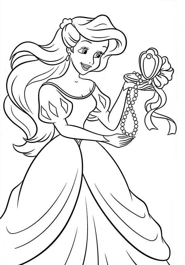 Ariel Birthday Coloring Pages : Princesses birthday coloring pages home