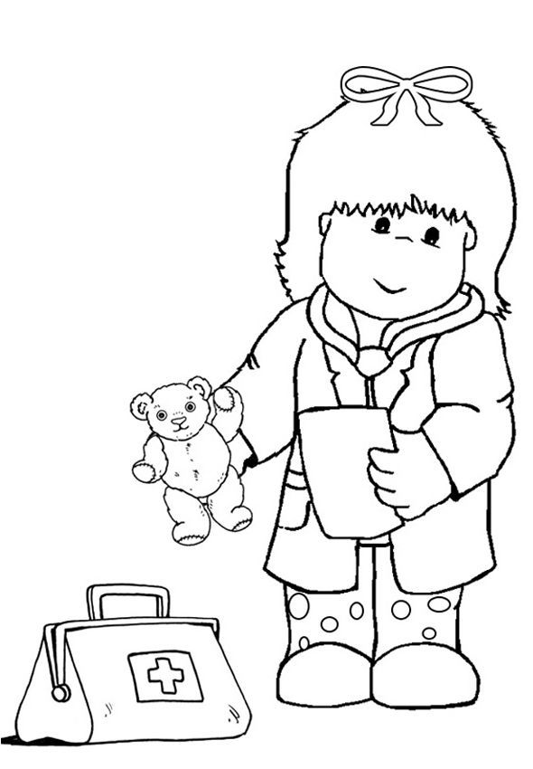 kid doctor coloring pages - photo#19