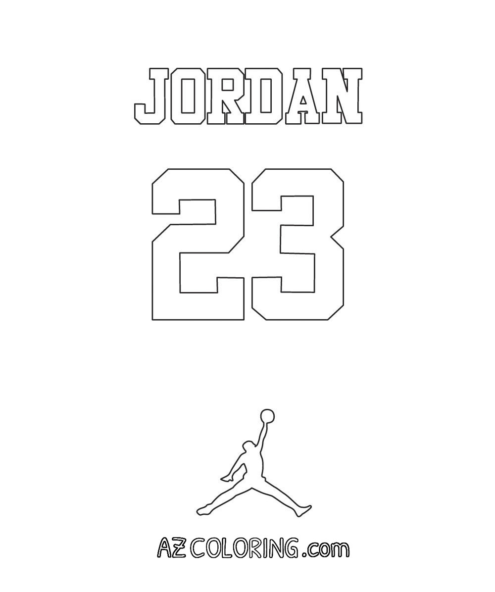 jordan coloring pages for kids - photo#40