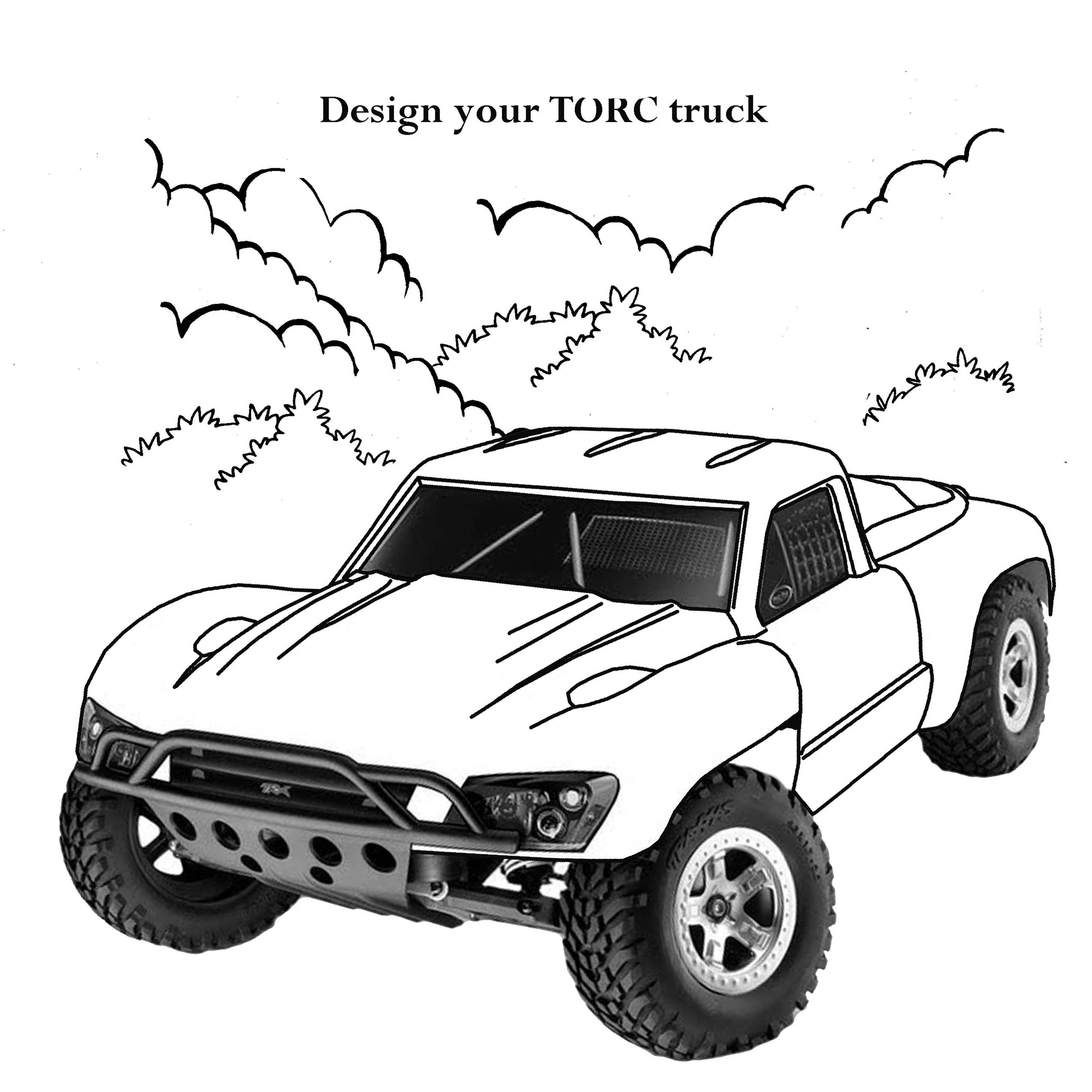Monster truck coloring page || COLORING-PAGES-PRINTABLE.COM | 3000x3000