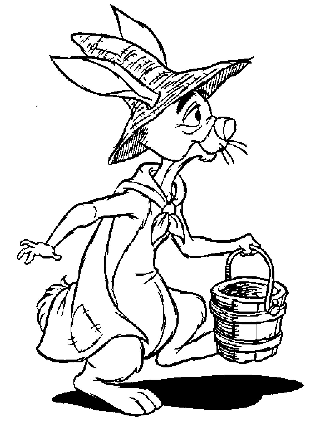 Winnie The Pooh And Rabbit Coloring Pages - Coloring Home
