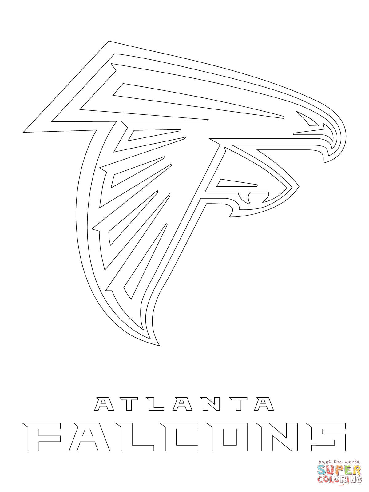 Atlanta Falcons Logo coloring page | Free Printable Coloring Pages