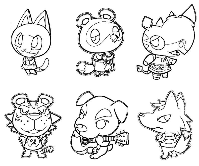 Animal Crossing Coloring Pages Coloring Home Animal Crossing Coloring Pages