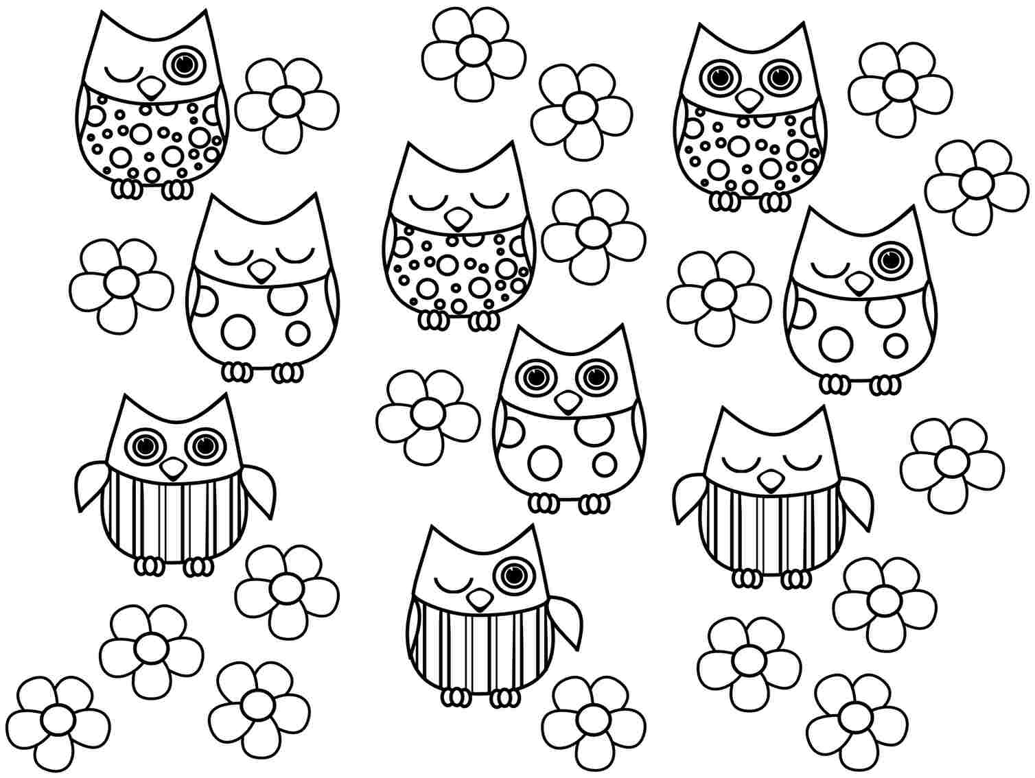 Owl Coloring Pages Pdf : Free owl printable coloring page az pages