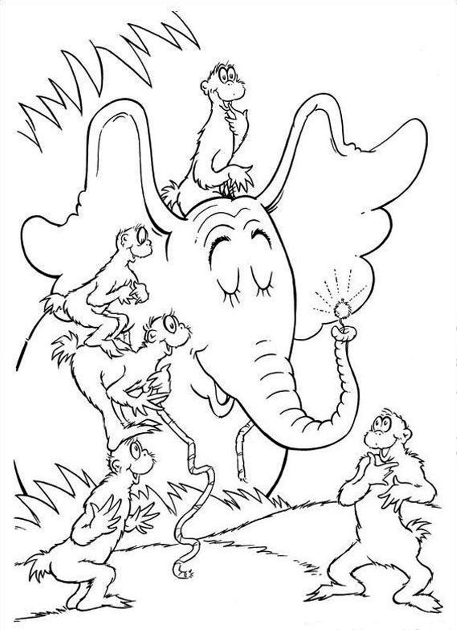 Free Dr Seuss Coloring Pages Printable  Coloring Home