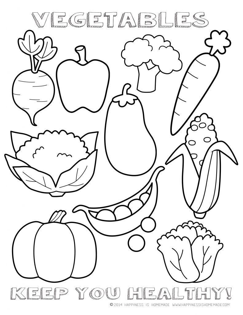 Fruits And Vegetables Coloring