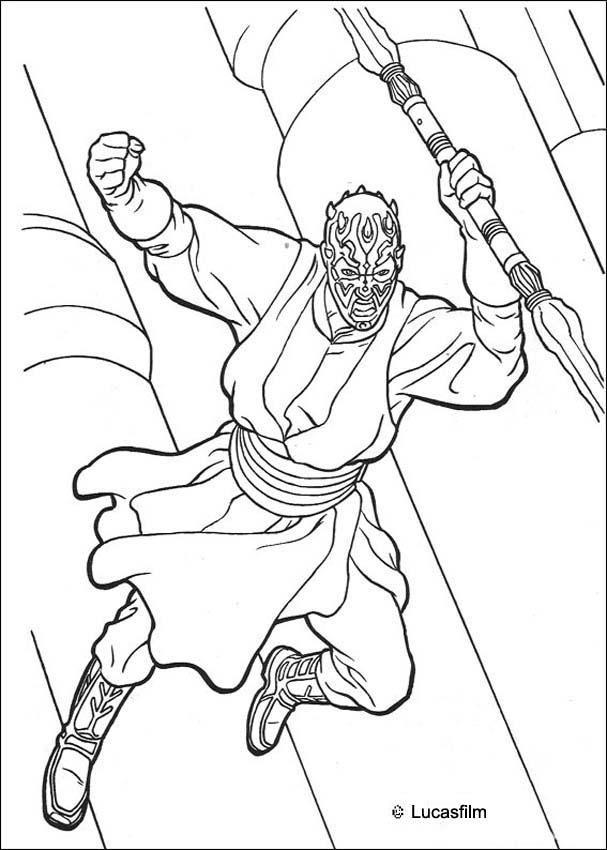 Darth Maul Coloring Page Coloring Home