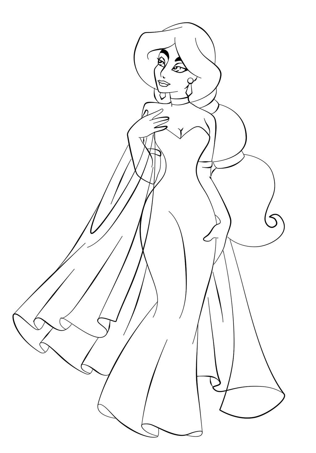 Full Page Princess Coloring Pages