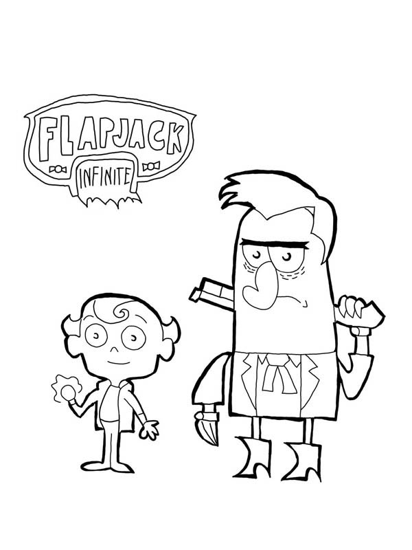 misadventures of flapjack coloring pages - photo#10