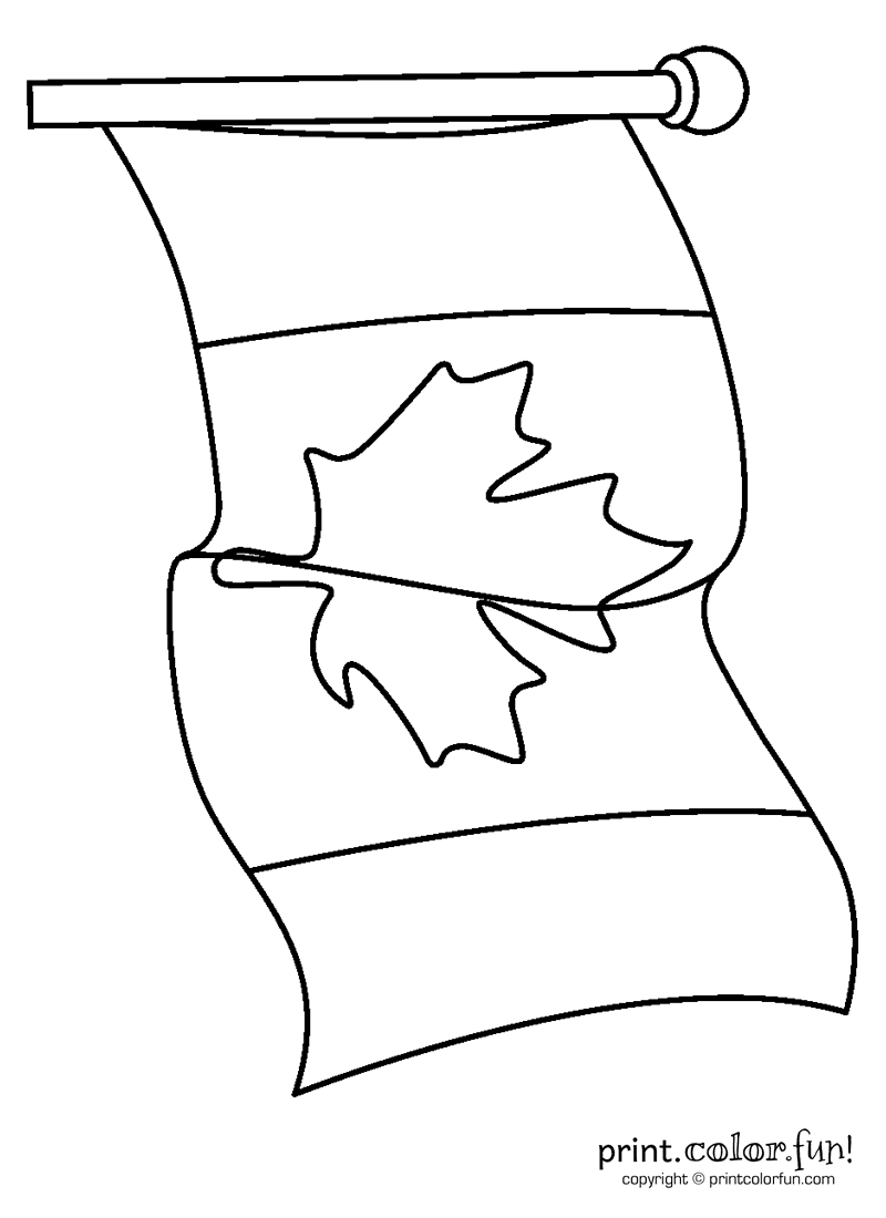canadian flag coloring pages - photo#33