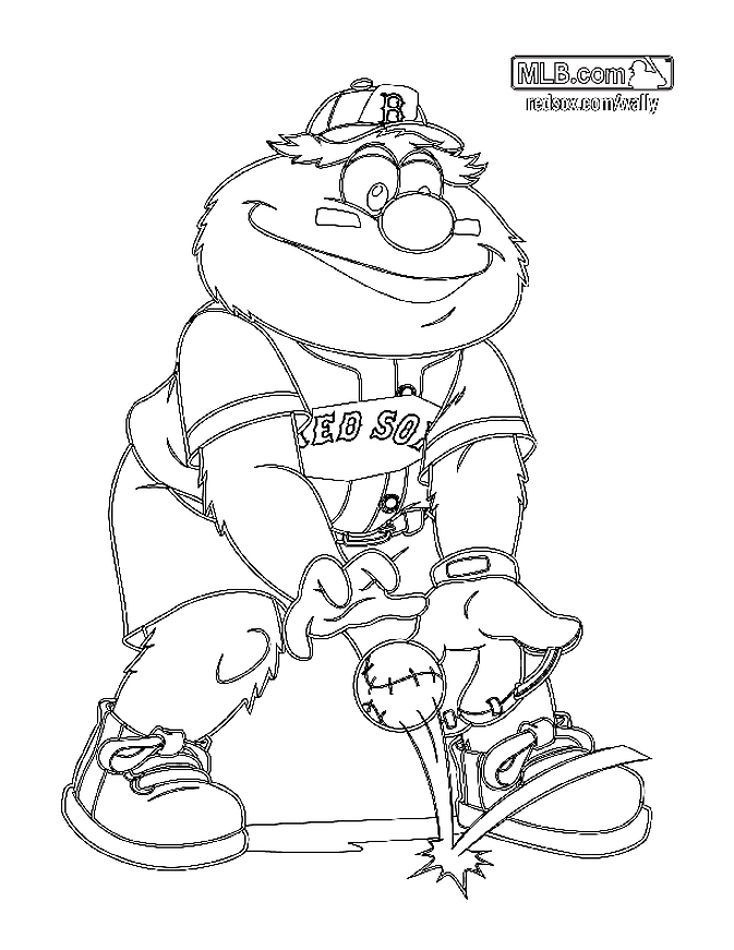 logo red sox coloring pages - photo#12