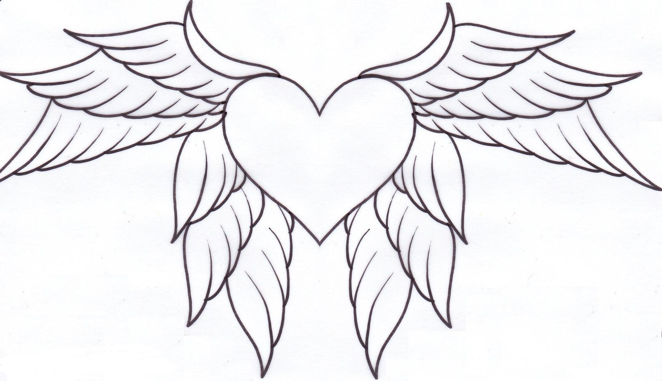 Adult Cute Heart With Wings Coloring Pages Gallery Images beauty hearts with wings coloring pages az heart page gallery images