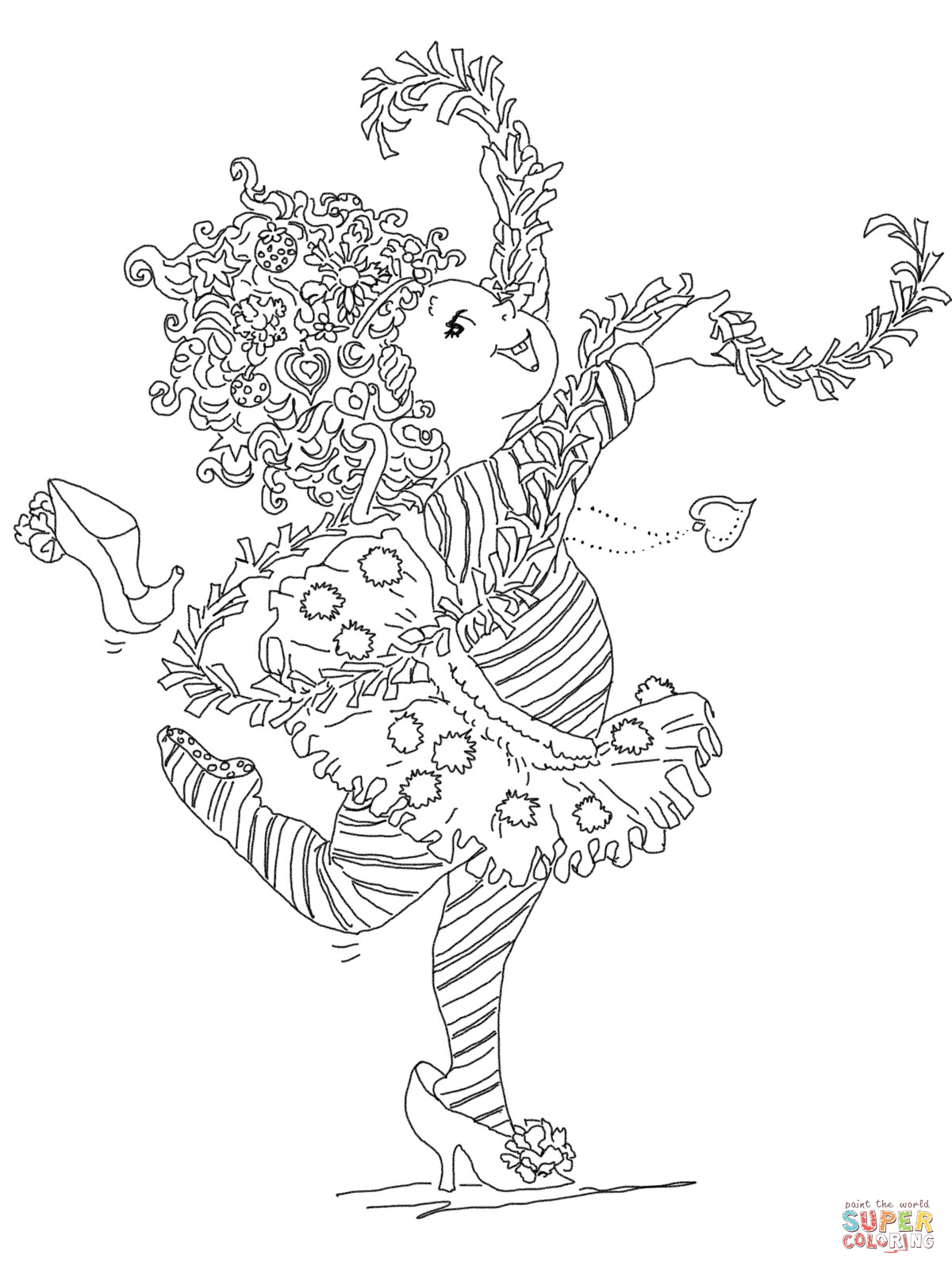 Fancy Nancy Printable Coloring Pages - AZ Coloring Pages
