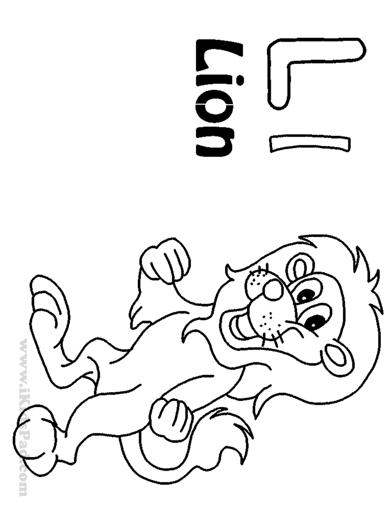 Cartoon Letter L Coloring Pages - Coloring Pages For All Ages