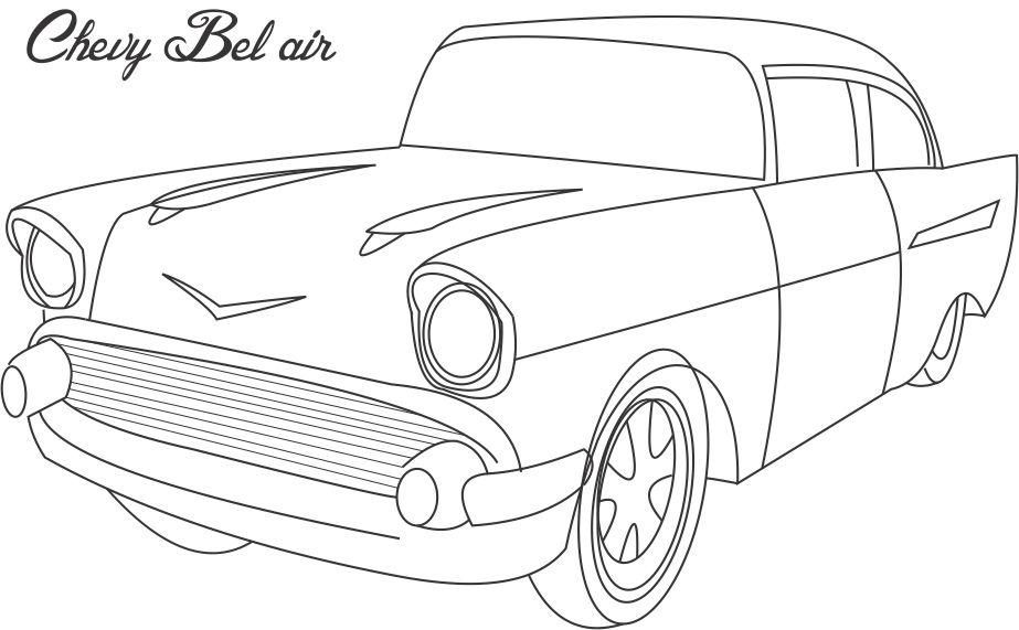 chevy coloring pages print