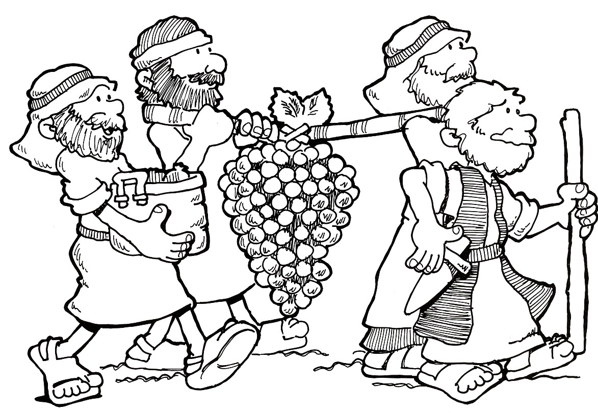 Joshua And Caleb Bible Story Coloring Page