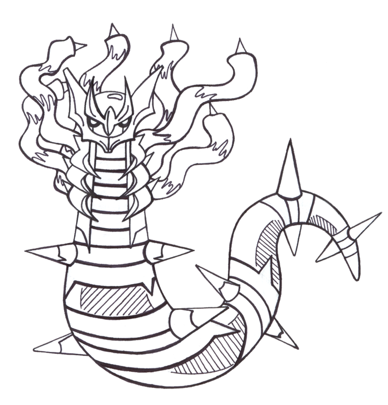 coloring pages giratina - photo#3