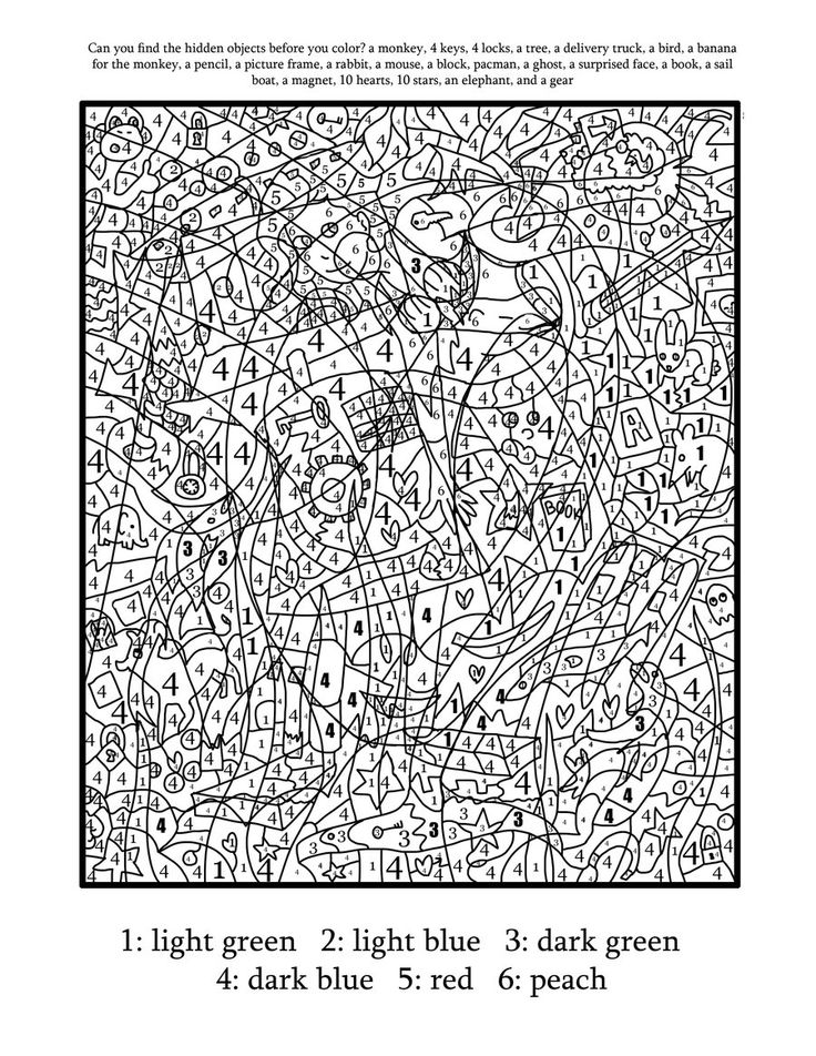 Really Hard Color By Number Coloring Pages Coloring Home