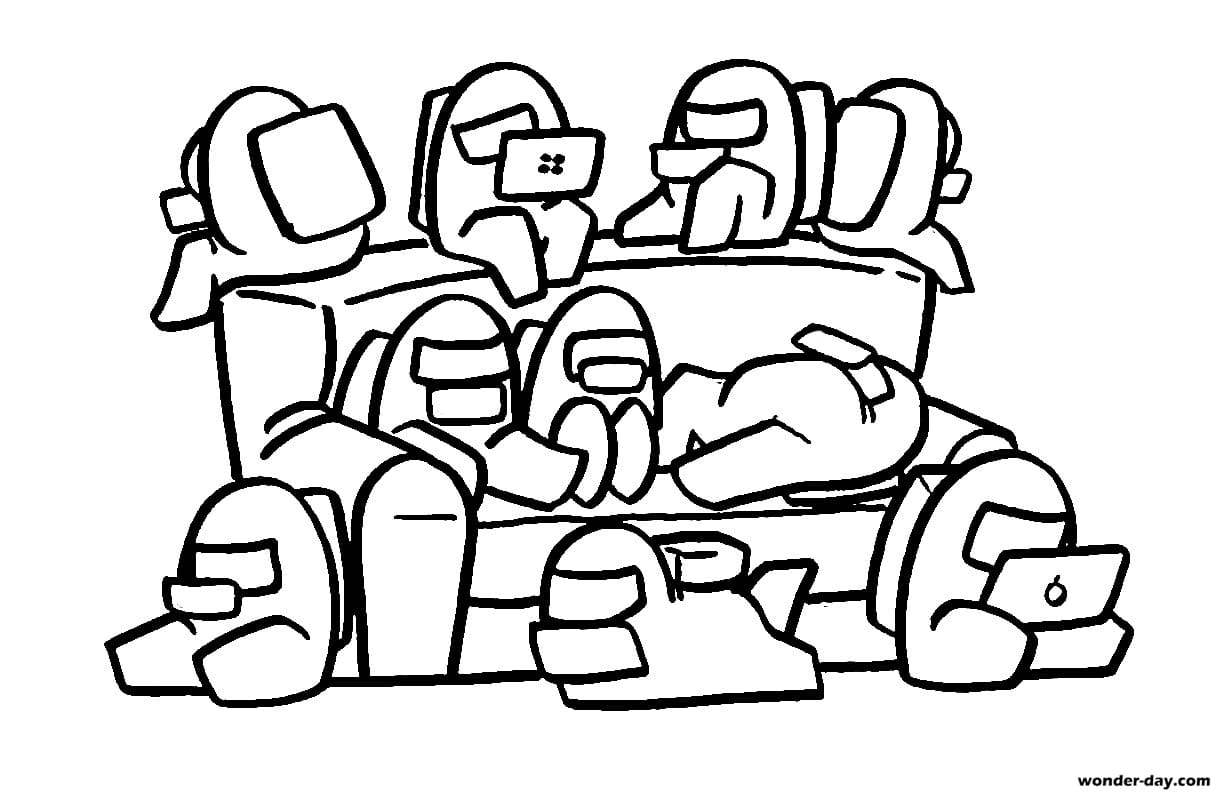Among Us Coloring Pages Coloring Home