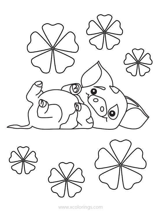 Pig Pua From Moana Coloring Pages ...xcolorings.com