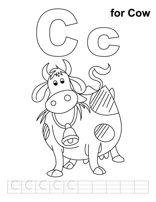 C Cow Coloring Pages Coloring