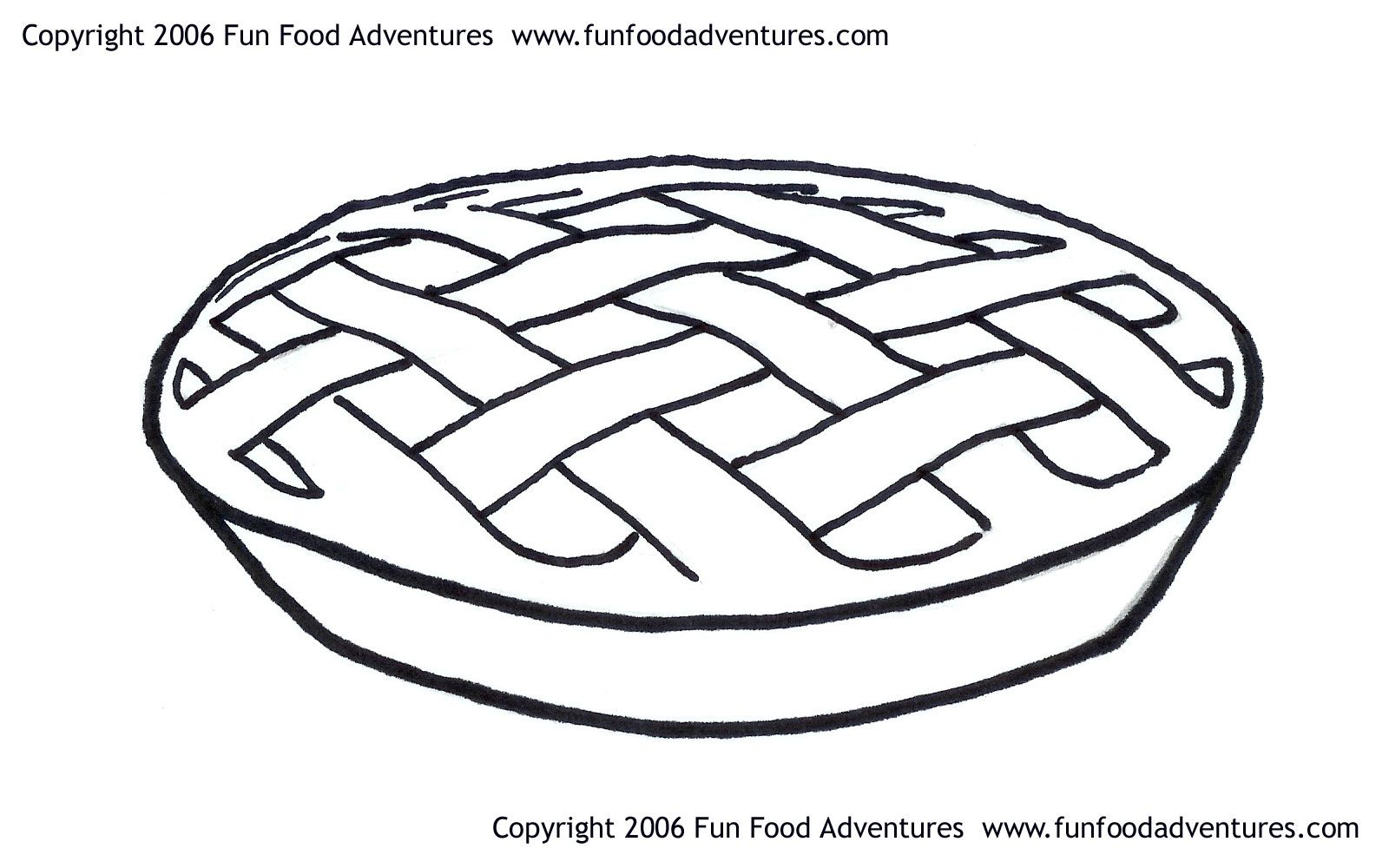 Pie - Coloring Pages For Kids And For Adults - Coloring Home