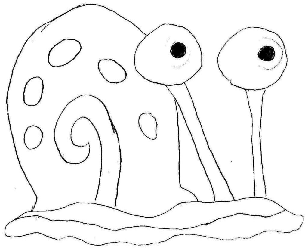 gary coloring pages - gary spongebob coloring pages coloring home