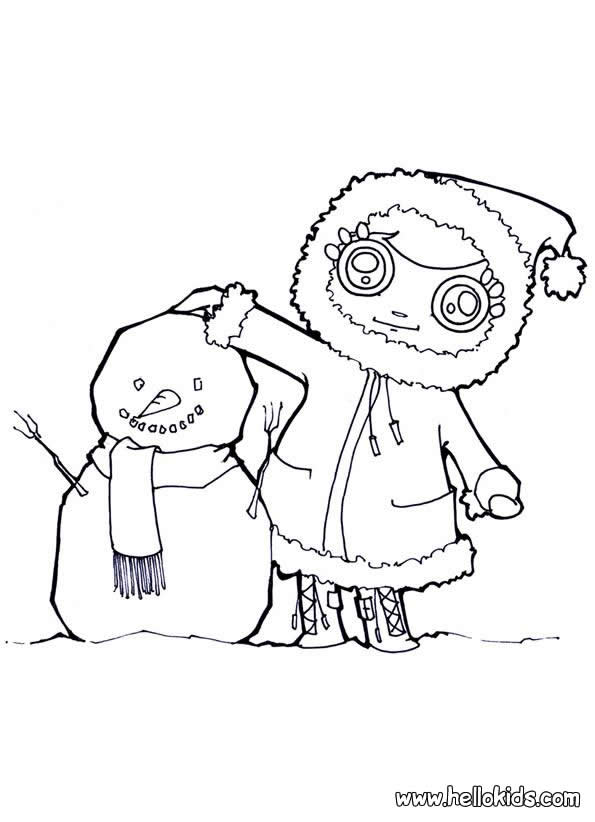 SNOWMAN coloring pages - Christmas Snowman