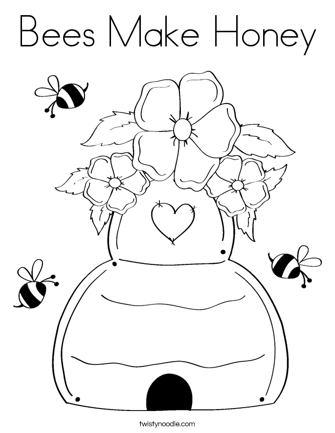 - Coloring Pages Of Honey Bees - Coloring Home