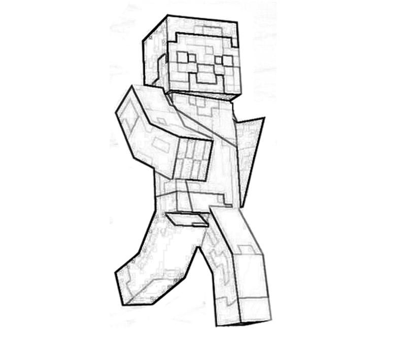Coloring Pages For Boys Minecraft