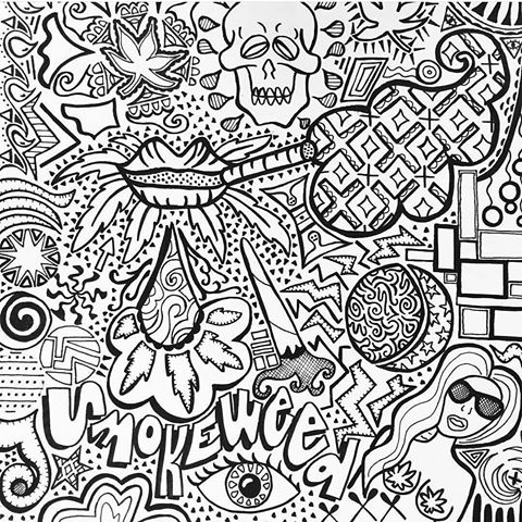 stoner trippy weed coloring pages - photo#18