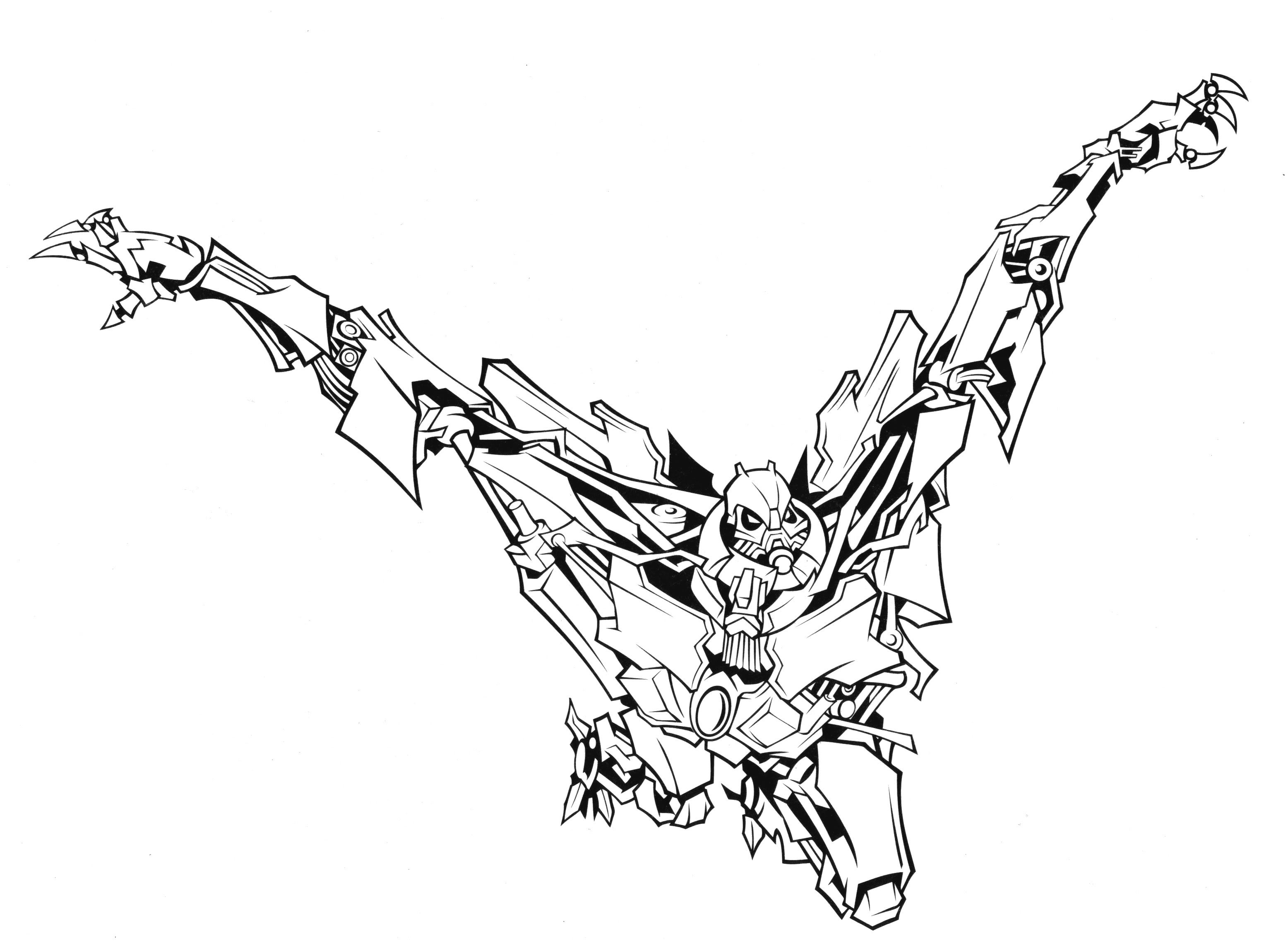 Transformers starscream coloring pages sketch coloring page for Starscream coloring page