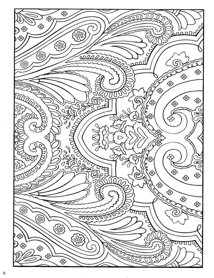 14 Pics Of Paisley Design Coloring Pages Art