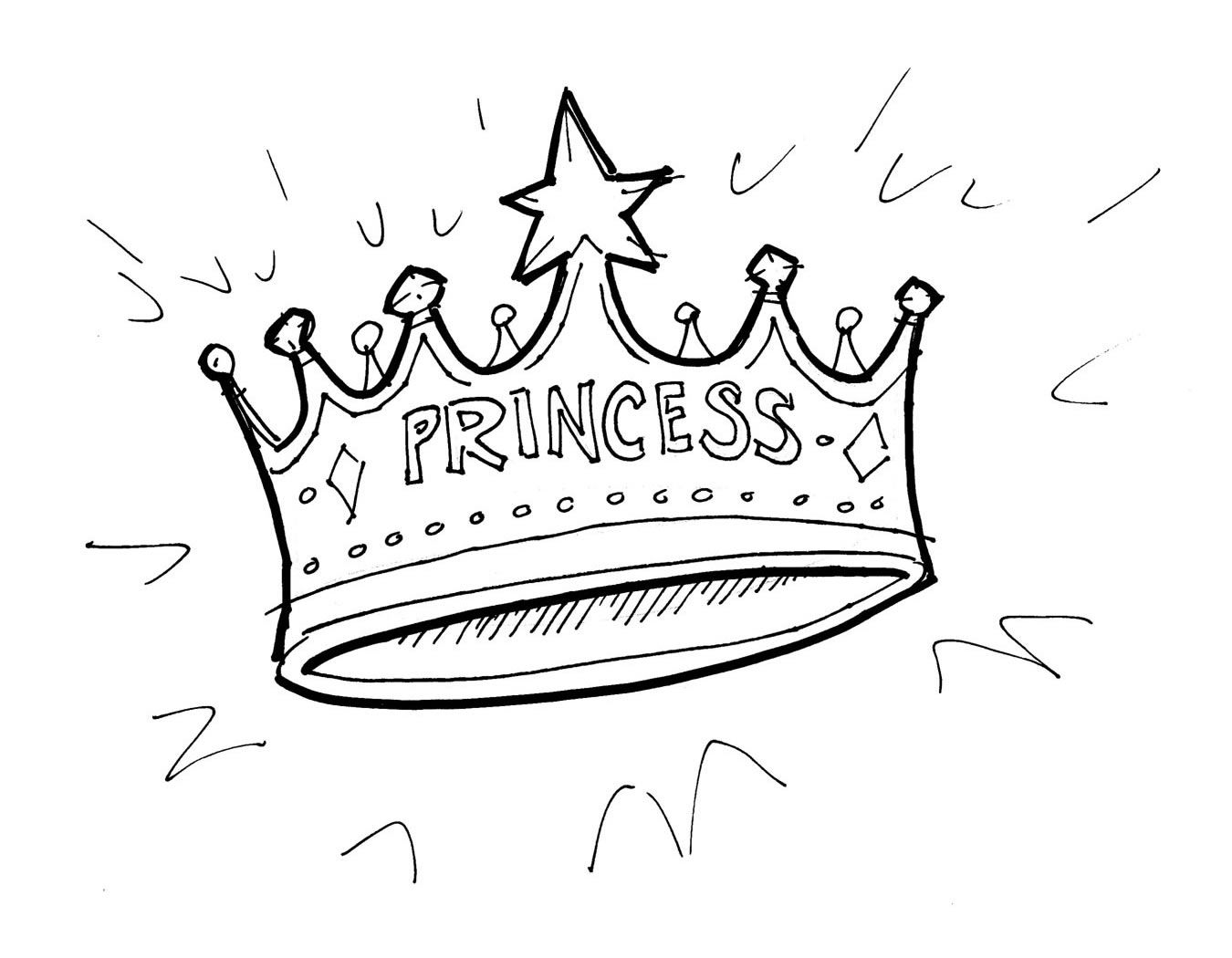 Crown Princess Coloring Page Coloring Home