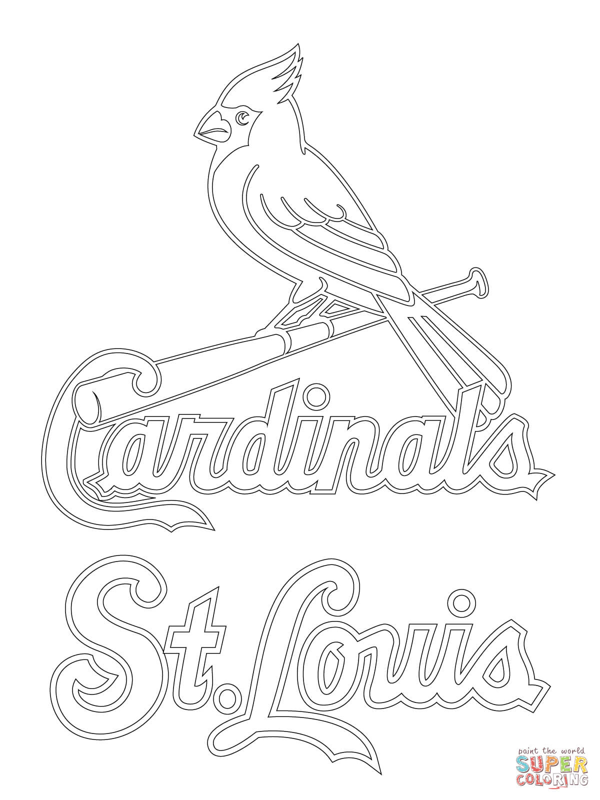 7 Pics Of Cardinal Mascot Coloring Pages St Louis Cardinals Coloring Home
