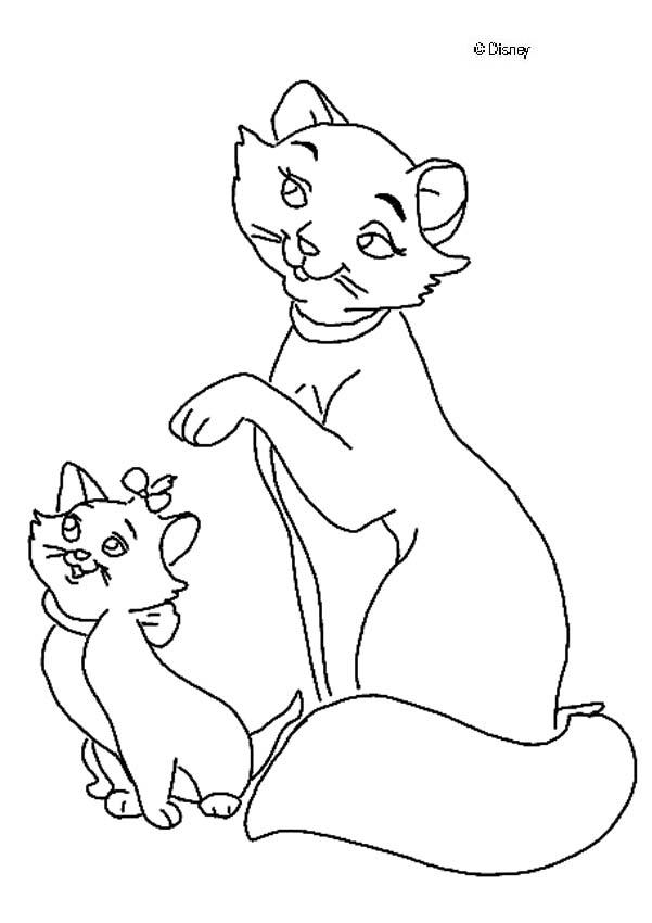 Cat And Kitten Coloring Pages - Coloring Home