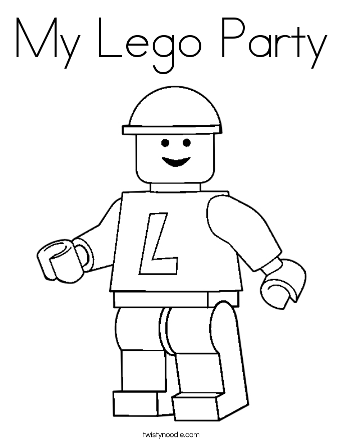 My Lego Party Coloring Page - Twisty Noodle
