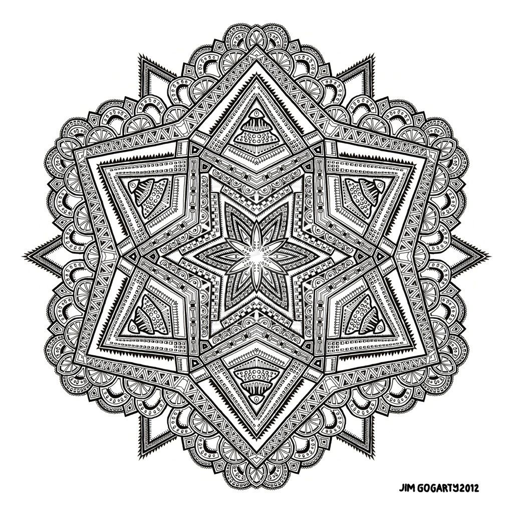 Difficult Mandala Coloring Pages